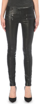 Paige Edgemont skinny mid-rise leather jeans