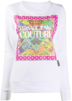 Versace Jeans Couture Paisley Fantasy-print cotton sweatshirt
