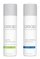 Asap Gentle Cleansing Gel 200ml + Daily Exfoliating Facial Scrub 200ml