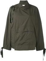 DKNY side lace-up jacket - women - Nylon - M/L
