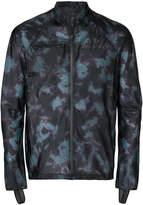 Satisfy tie dye zipped running jacket
