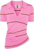 Topshop Margot Striped Stretch-knit Top - Pink