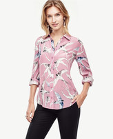 Ann Taylor Bird Silk Blouse
