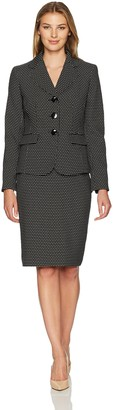 Le Suit LeSuit Women's Novelty Dot 3 Button Skirt Suit