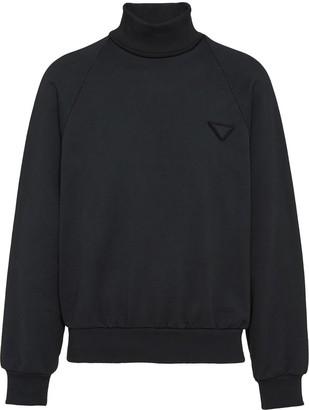 Prada Logo Applique Oversized Sweatshirt