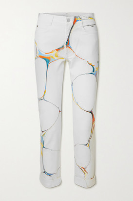 Stella McCartney Net Sustain Printed High-rise Skinny Jeans - White