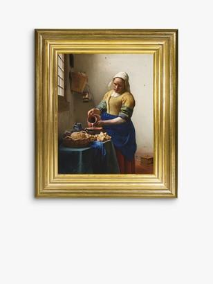 Unbranded Johannes Vermeer - 'The Milkmaid' Framed Canvas, 35 x 30cm, Yellow/Multi
