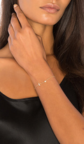 Sachi Moon and Star Bracelet in Metallic Gold.