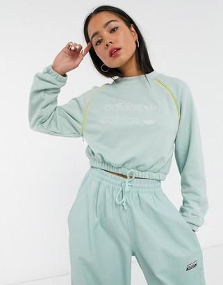 adidas RYV cropped sweatshirt in green tint