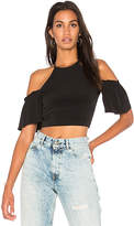 BCBGeneration Off Shoulder Crop Top in Black