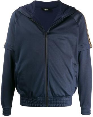 Fendi FF motif band track jacket