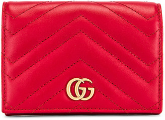Gucci Leather Passport Case in Hibiscus Red | FWRD