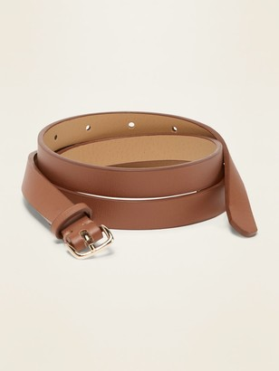 Old Navy Skinny Faux-Leather Belt for Women (0.50-inch)