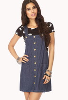 Forever 21 Blue Jeans Babe Overall Dress