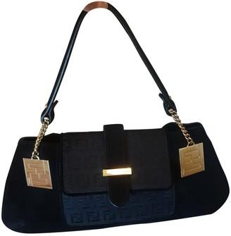Fendi Baguette Black Suede Handbags