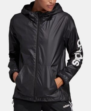 adidas Women's Essentials Linear Windbreaker Jacket