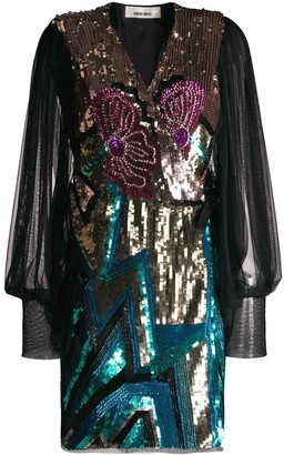 Circus Hotel sequin embroidered dress