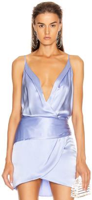 Mason by Michelle Mason Cami Wrap Bodysuit in Ice | FWRD