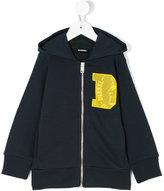 Diesel branded zip hoodie