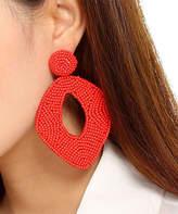 Amrita Singh Women's Earrings Coral - Red Beaded Pear Drop Earrings