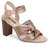 Louise et Cie Women's Kamden Knotted Block Heel Sandal