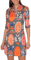 Gretchen Scott Mandarin Neck Shirtdress