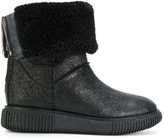 Moncler shearling ankle boots