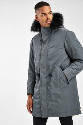 Nike Mens NSW Down Fill Hooded Parka - Grey