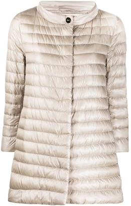 Herno quilted down A-line jacket