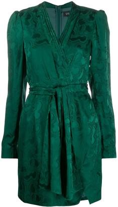 Saloni Bibi wrap silk dress