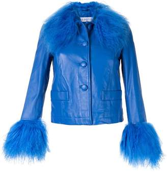 Saks Potts leather jacket with trim
