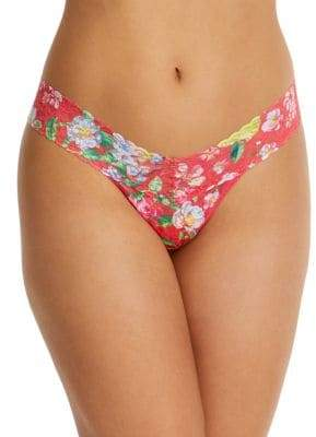 Hanky Panky Super Bloom Low-Rise Floral Lace Thong