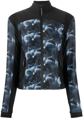 John Richmond Floral-Print Zip-Front Jacket
