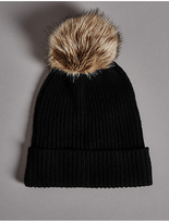 Autograph Pure Cashmere Bobble Winter Hat