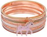 Mudd Unicorn Charm Bangle Bracelet Set