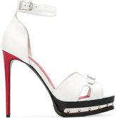Alexander McQueen hobnail platform sandals - women - Leather/metal - 35