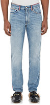 Gucci Men's Embroidered Slim Jeans-LIGHT BLUE
