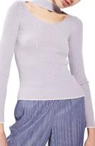 Topshop Women's Ribbed Choker Top