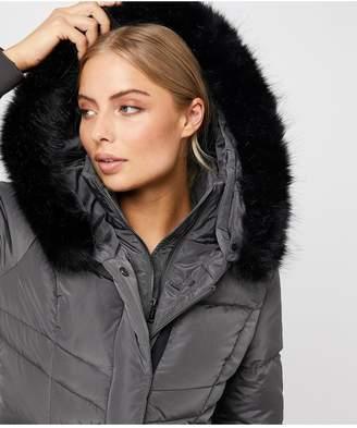 Monsoon Victoria Short Wrap Padded Coat - Grey