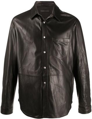 Giuseppe Zanotti leather shirt jacket