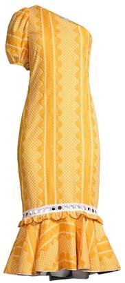 Azulu Petite Ricaurte One Puff-Sleeve Embroidered Midi Dress