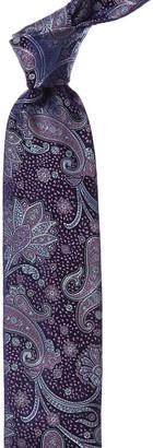 Canali Purple Paisley Silk Tie