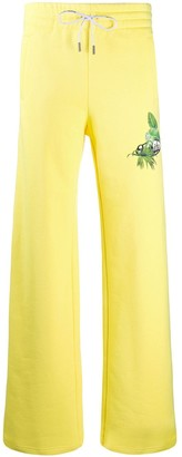 Off-White Off White tropical logo-print track trousers