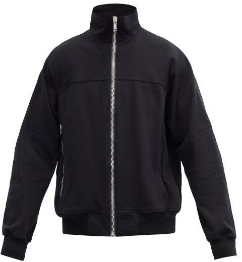 Rick Owens Zip-up Cotton-jersey Track Jacket - Black