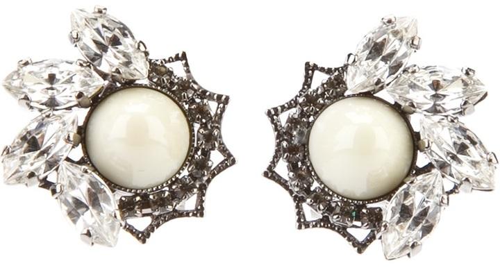 Anton Heunis crystal stud earrings