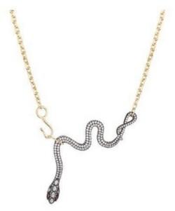 Noir Cubic Zirconia Snake Necklace