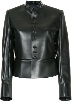 Comme Des Garçons Pre Owned Faux Leather Jacket
