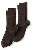 Classic Men's Seamless Toe Wool Rib Dress Socks (2-pack)-Rich Red