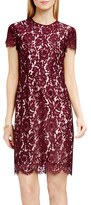 Vince Camuto Women's Short Sleeve Scallop Lace Sheath Dress
