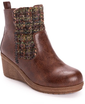Muk Luks Novah Women's Wedge Ankle Boots